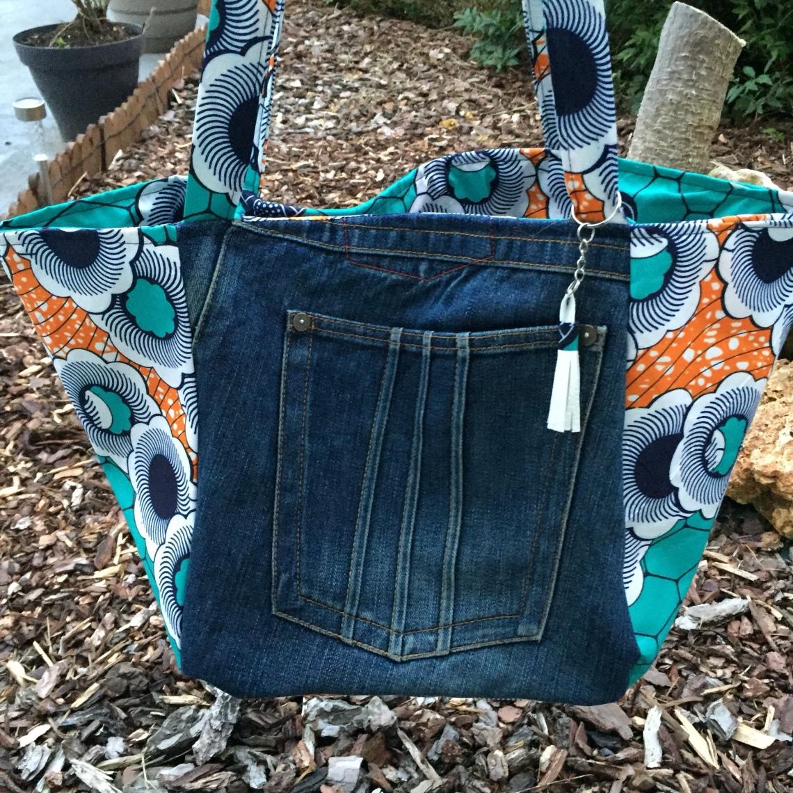 tuto sac de plage en jean